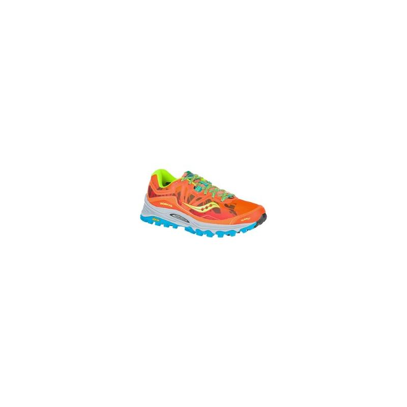Saucony Xodus 6.0 Trail Dames Oranje/Blauw/Groen