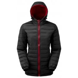 Dames Padded jacket zwart/rood
